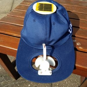 Other - Solar powered blue ball cap with cooling fan